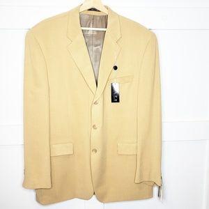 Ralph Lauren Camel Tan Sport Coat Blazer Large 46